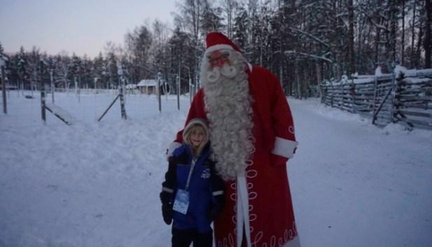 Cuddles with Santa