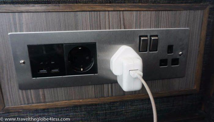 Plug sockets in Heathrow T5