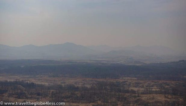 North Korean propaganda town viewed from the Dora Observatory