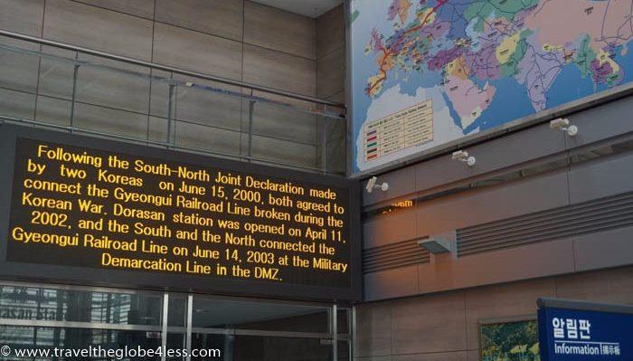 Dorasan Station board