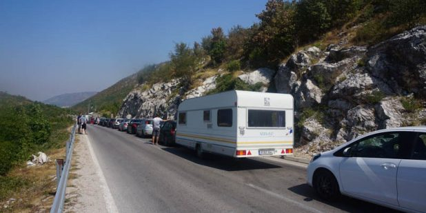 Bosnian entry border line