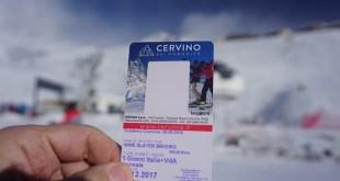 Cervinia ski pass