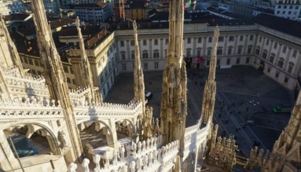 Milan cathedral from the roof
