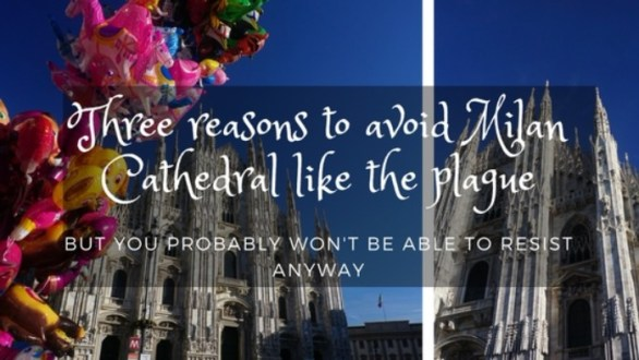 Milan cathedral and balloons