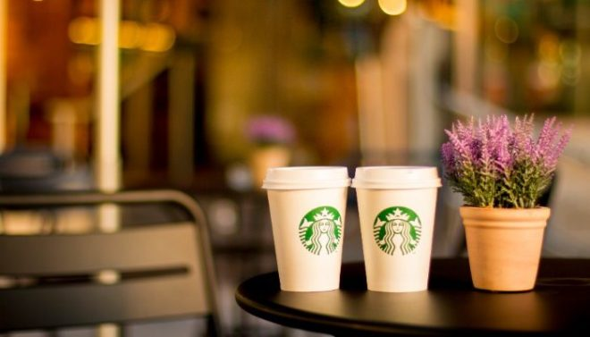 drinks from Starbucks