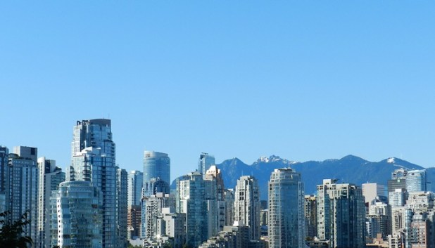 Vancouver skyline and mountain views