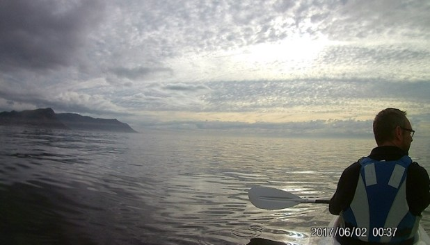 Early morning kayaking in Cape Town