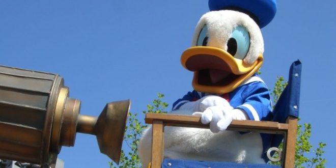 Donald Duck on parade at Disneyland Paris