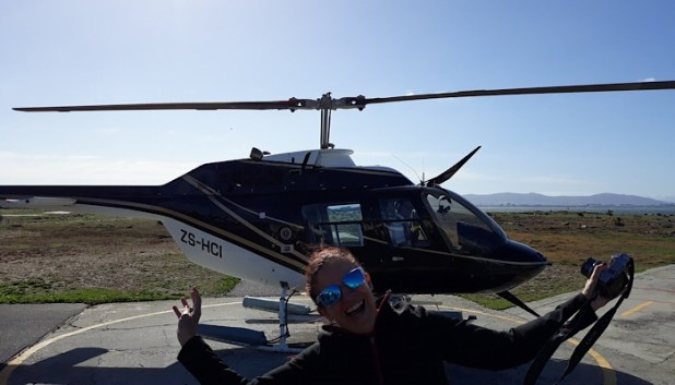 Taking the helicopter in Cape Town