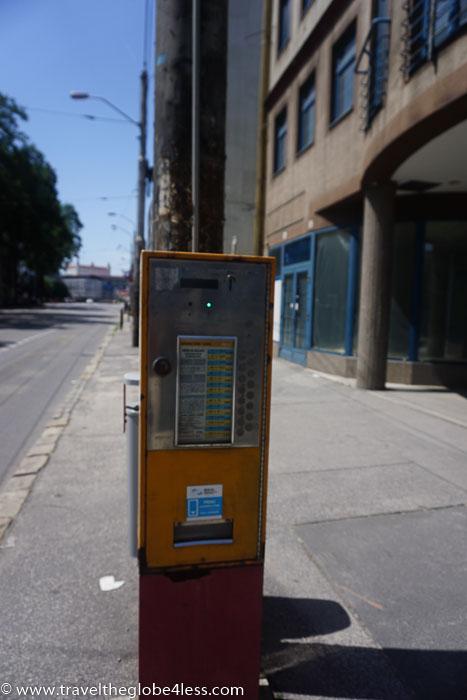 Bratislava bus ticket machine