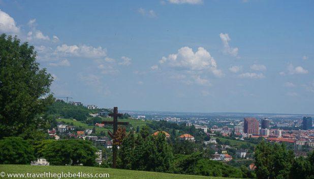 View of Bratislava from the Slavin memorial