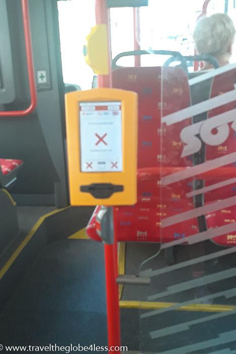 Bratislava bus ticket validation machine