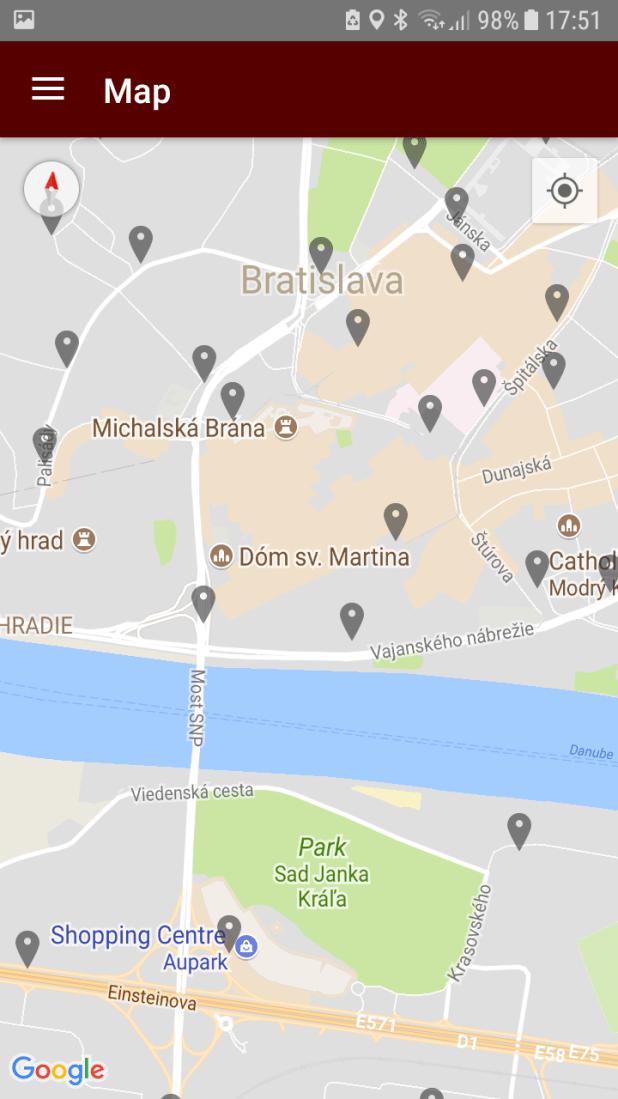 Bratislava public transport app