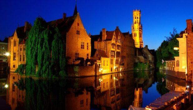 Bruges night scene
