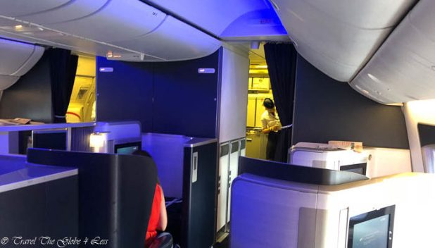 British Airways First Class cabin configuration