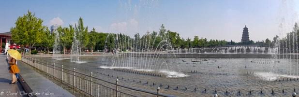 Big Goose Pagoda fountains