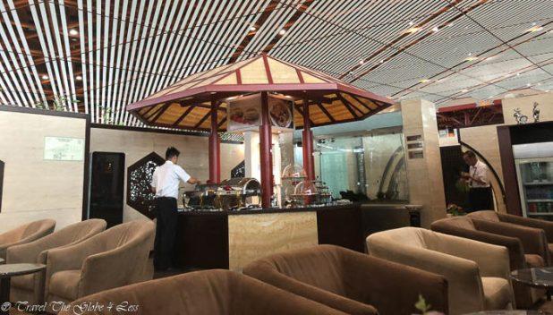 BJS Beijing First Class lounge dining area