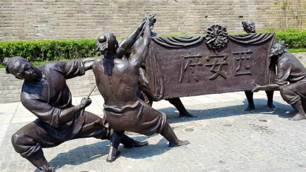 Xian city walls base