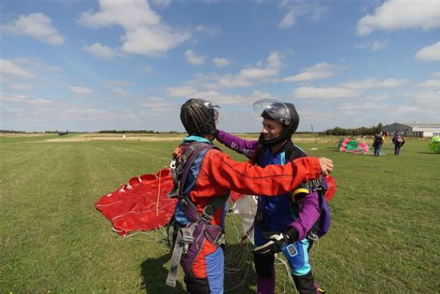 Skydiving celebrations