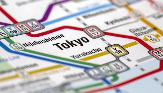 Tokyo public transport map