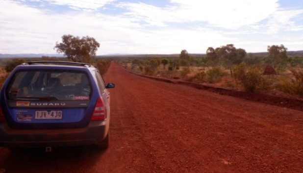 car on Australian road