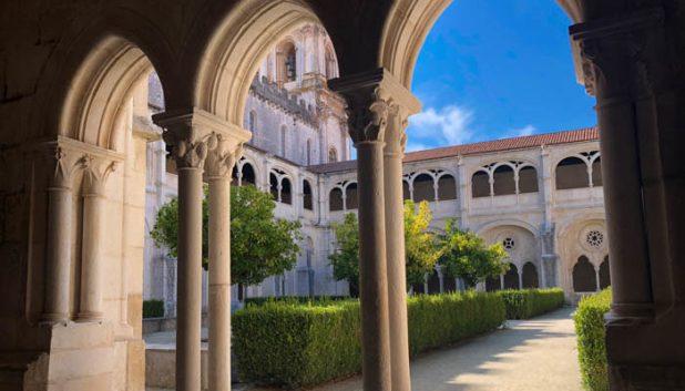 Courtyard of Alcobaca Monastery