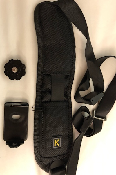 items which make up the camera shoulder strap