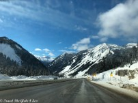 Highway between Kamloops and the US border