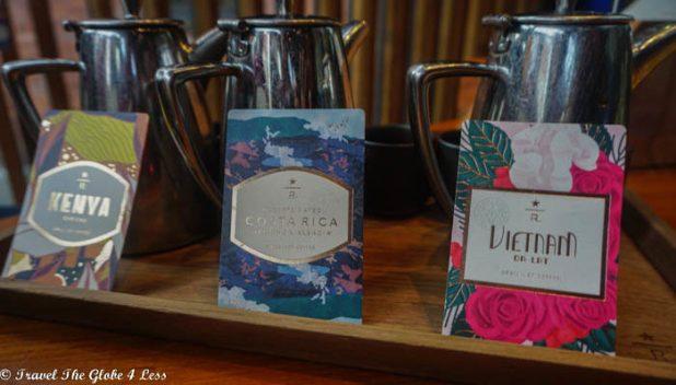 Seattle Roastery Experience Bar - coffee flight