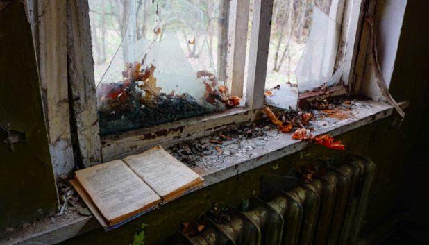 an abandoned book in the Kpachi kindergarten
