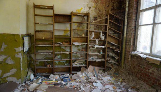Devastation at the Kopachi kindergarten