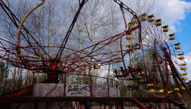 Abandoned fairground in Chernobyl exclusion zone