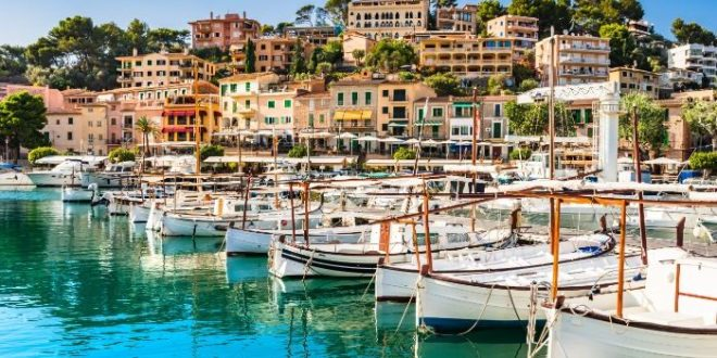 boats in the marina at Soller Port