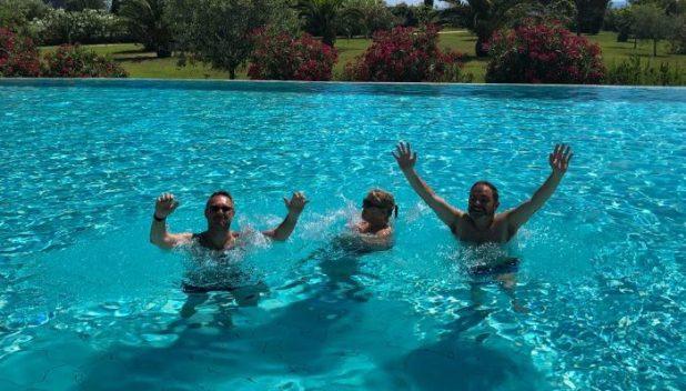 The gang in the Falkensteiner Iadera pool