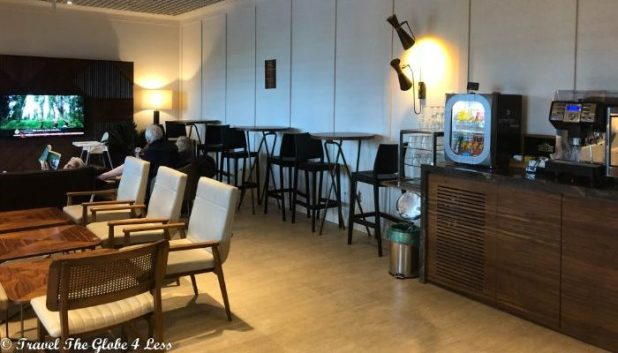 Zagreb airport Primeclass lounge seating area