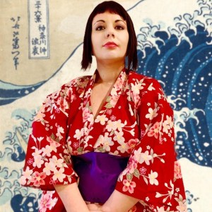 Onda Hokusai e Marzia in kimono