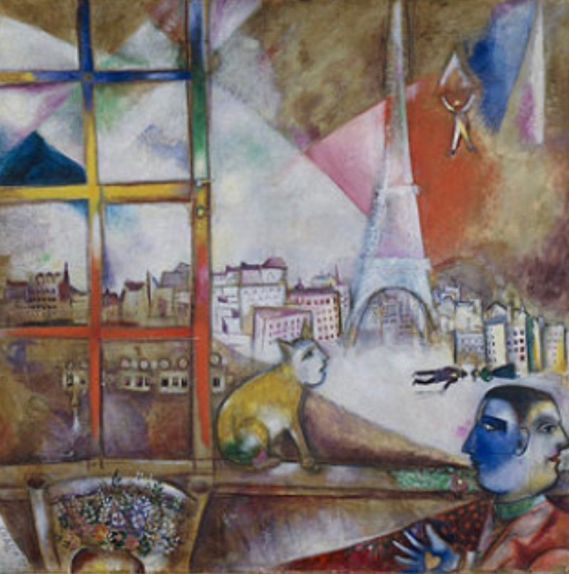 Parigi dalla finestra - Marc Chagall, ph M. Parmigiani