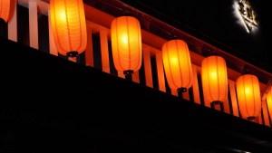 lanterne giapponesi rosse
