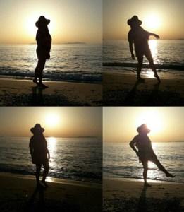 foto di ragazza controluce in spiaggia - Roberta Mondello