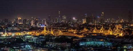 paesaggio notturno Grand Palace Bangkok