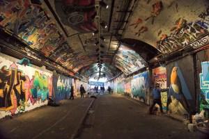 leak street lambeth traveltherapists banksy tunnel