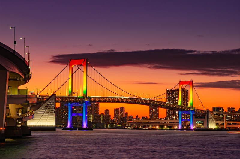 rainbow bridge tramonto tokyo traveltherapists. 3