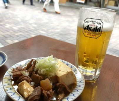 stufato del Motsuyaki Daitoryo Shiten con birra