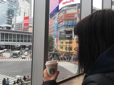 marzia allo starbuck tsutaya shibuya