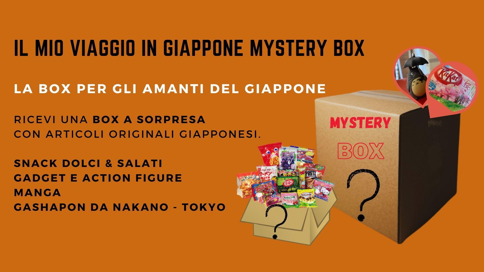 una box misteriosa con oggetti e snack dal Giappone