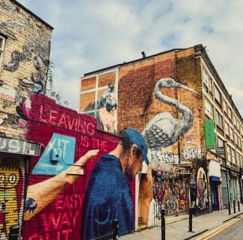 streetart shoreditch brick lane east london traveltherapists miglior blog di viaggio