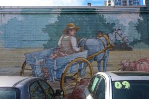 Raleigh Murals Donkey Wagon