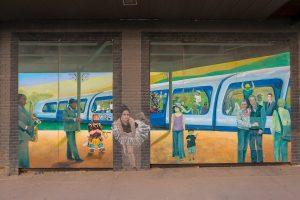 Raleigh Murals Train