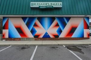 Raleigh Street Art Bruegger's Bagels