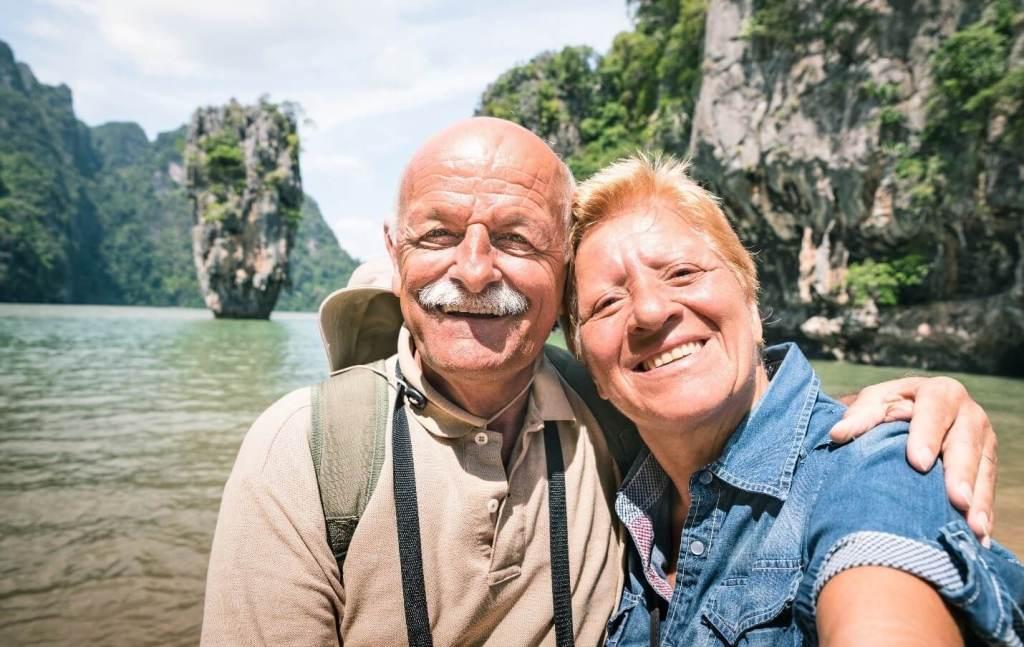 Senior Couple Traveling on Vacation